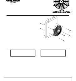 flex a lite 119 pusher loboy electric fan user manual 1 page flex a lite fan controller wiring diagram flex fan wiring [ 954 x 1235 Pixel ]