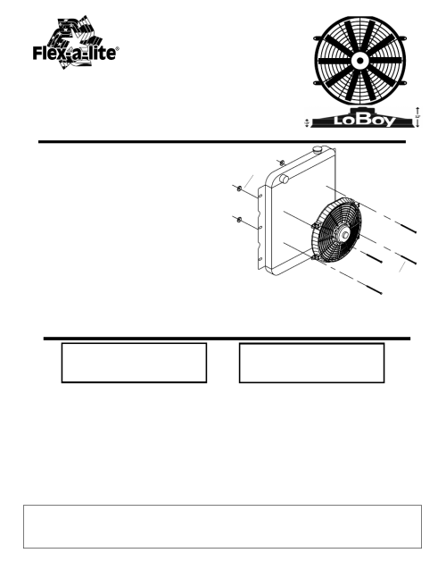 small resolution of flex a lite 119 pusher loboy electric fan user manual 1 page flex a lite fan controller wiring diagram flex fan wiring