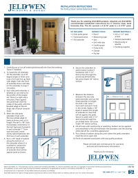 JELD-WEN Entry Door Jamb Extension Kits User Manual | 1 page