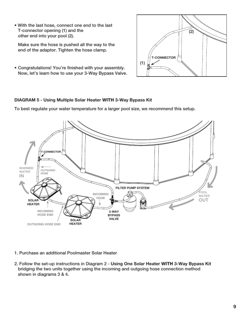 small resolution of poolmaster 59025 above ground pool solar heater user manual page 10 13
