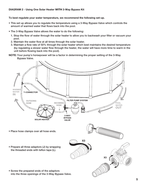 small resolution of poolmaster 59025 above ground pool solar heater user manual page 6 13