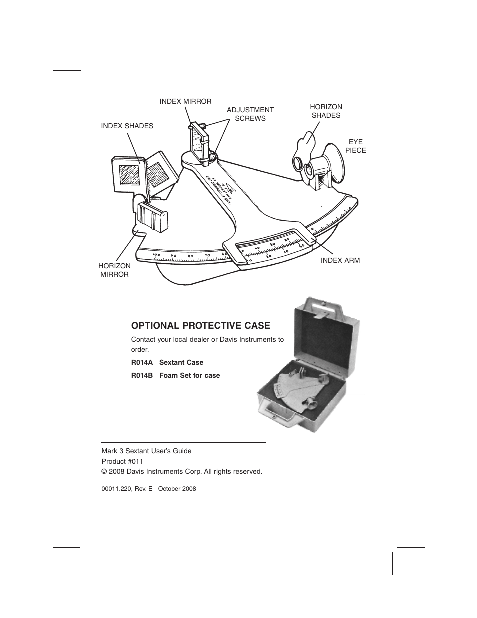 hight resolution of optional protective case davis mark 3 sextant user manual page 2 20