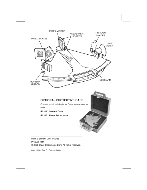 small resolution of optional protective case davis mark 3 sextant user manual page 2 20