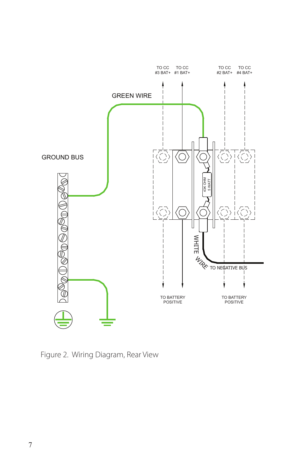 hight resolution of figure 2 wiring diagram rear view green wire white wire dcfigure 2 wiring diagram