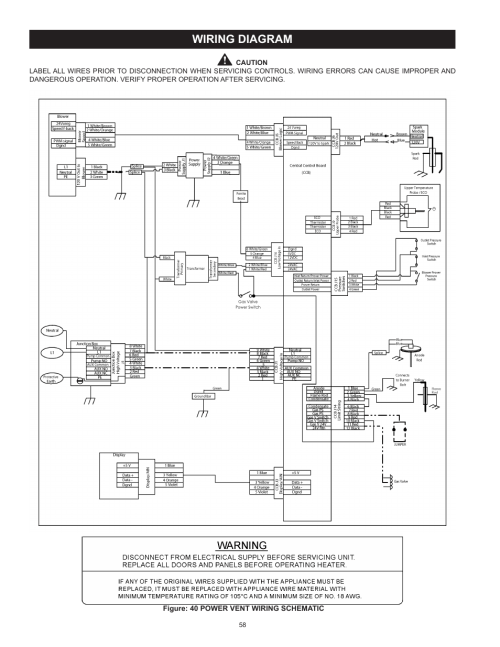 small resolution of power vent wiring diagram