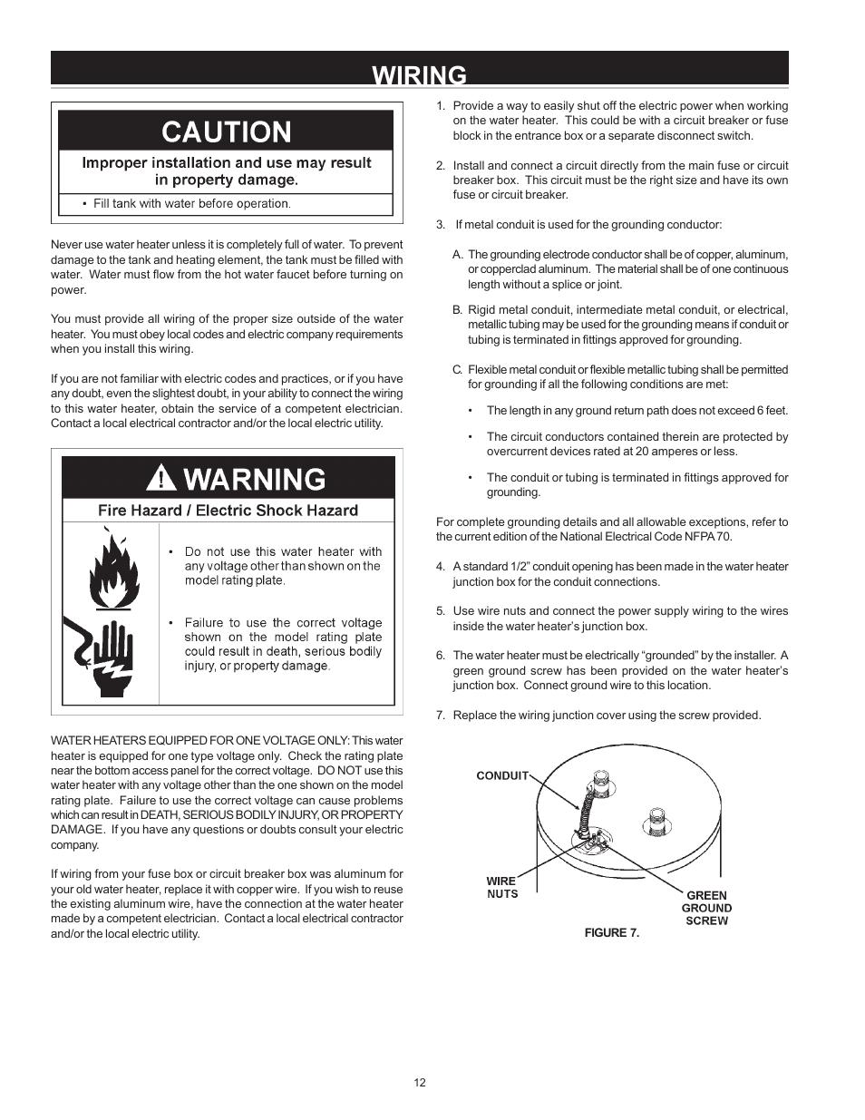 medium resolution of water heater to breaker wiring