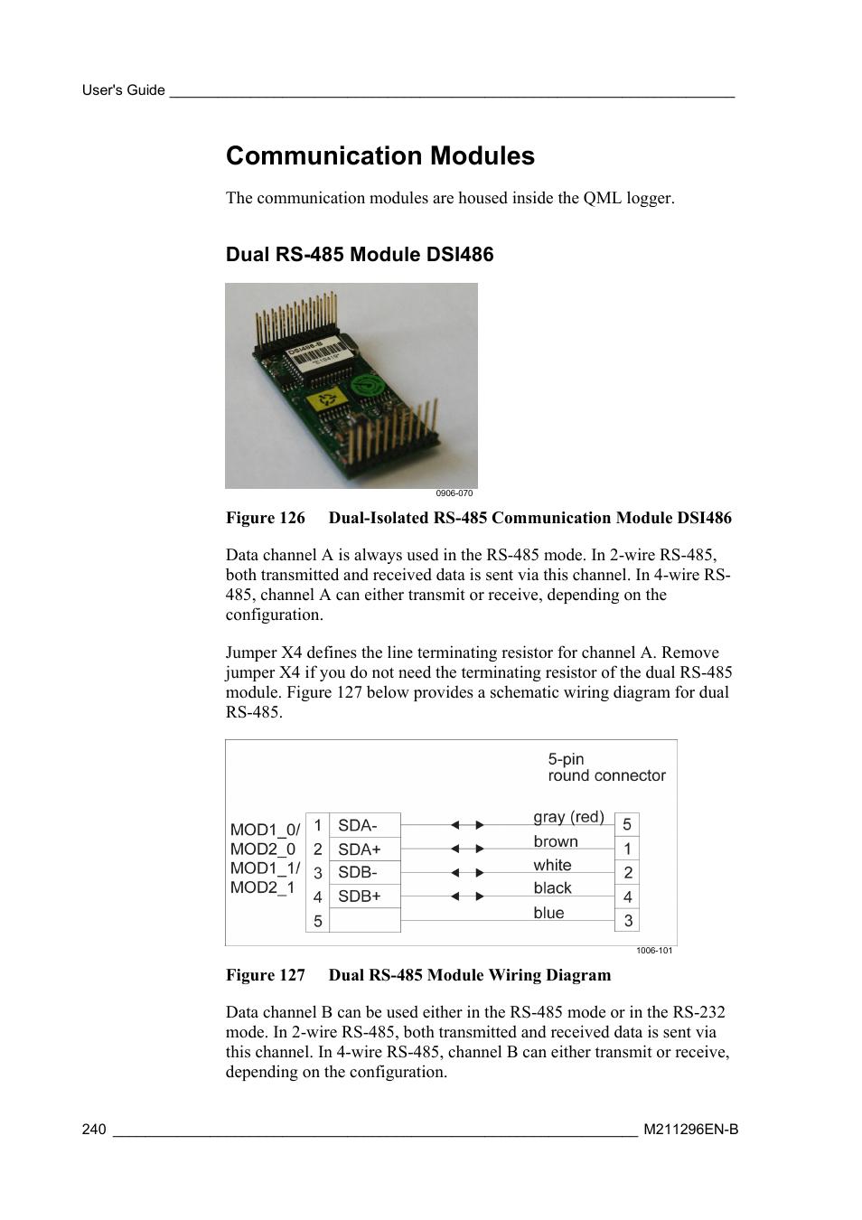 medium resolution of communication modules dual rs 485 module dsi486 vaisala aws330 user manual page 242 296
