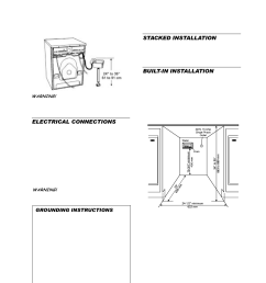 electrical connections drain outlet connection freestanding rh manualsdir com dryer cord wiring diagram ge dryer wiring diagram [ 954 x 1351 Pixel ]