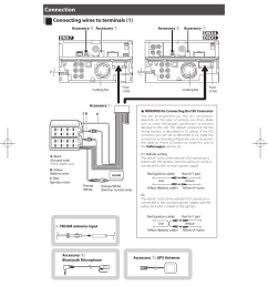 connection connecting wires to terminals 1 quick start guide kenwood dnx5280bt user manual page 28 36 [ 954 x 1294 Pixel ]