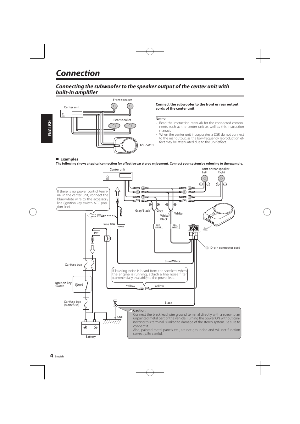 hight resolution of connection kenwood ksc sw01 user manual page 4 7