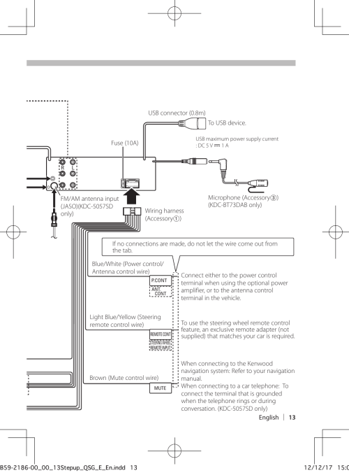 small resolution of  108 wiring diagram connecting wires to terminals kenwood kdc bt53u user manual page on kenwood kdc