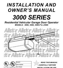 allstar products group 3500 user manual 24 pages also for j3500 3500 p 3000 [ 954 x 1235 Pixel ]