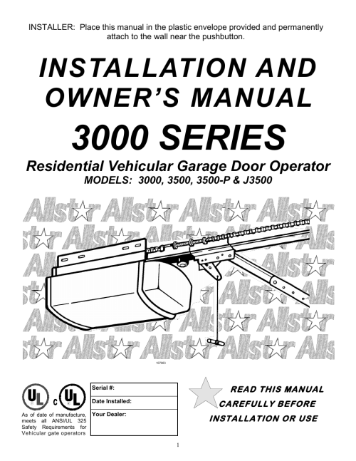 small resolution of allstar products group 3500 user manual 24 pages also for j3500 3500 p 3000
