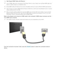 connecting through the hdmi port samsung un24h4500afxza user manual page 12 146 [ 954 x 1350 Pixel ]