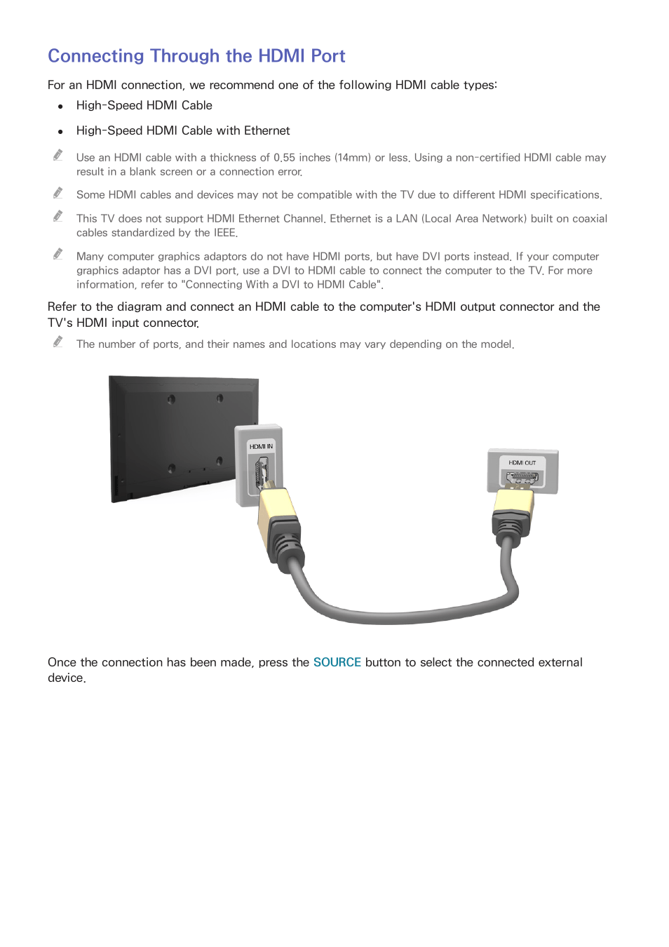 medium resolution of connecting through the hdmi port samsung un24h4500afxza user manual page 12 146