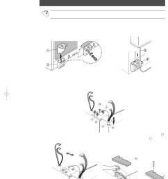 reattaching the refrigerator doors reattaching the freezer door samsung rs2555sl xaa user manual [ 954 x 1351 Pixel ]