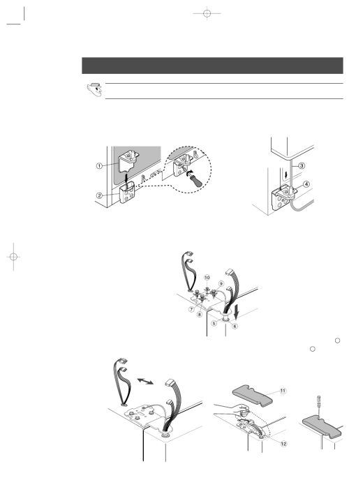 small resolution of reattaching the refrigerator doors reattaching the freezer door samsung rs2555sl xaa user manual