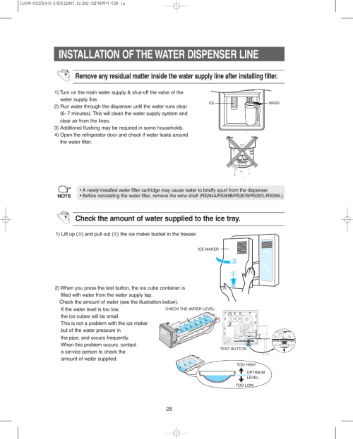 small resolution of installation of the water dispenser line samsung rs267lbsh xaa samsung refrigerator rs264absh wiring diagram