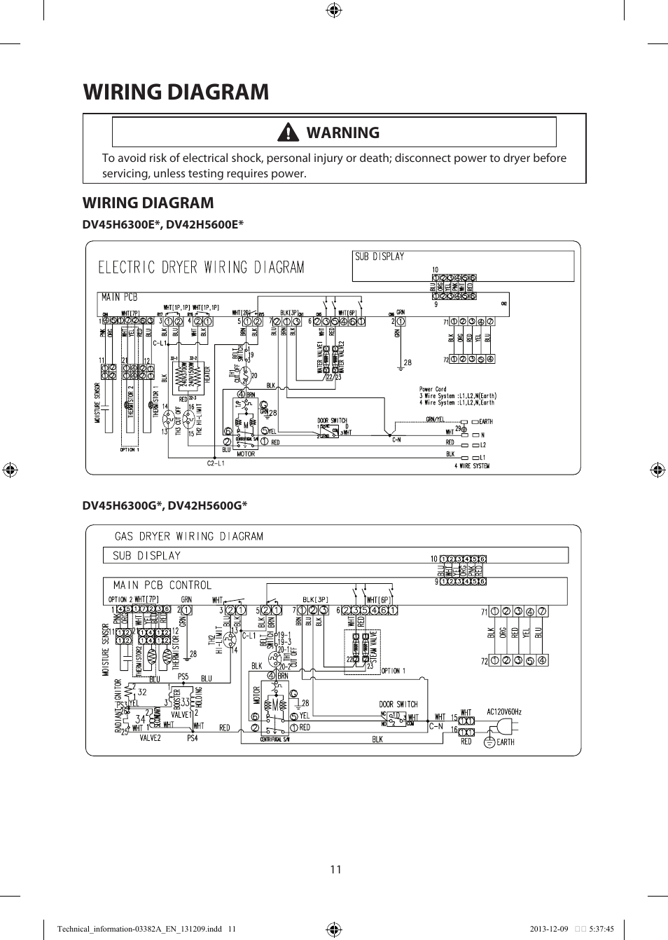 hight resolution of wiring diagram warning samsung dv42h5200ef a3 user manual page 3g wiring schematic samsung wiring schematic