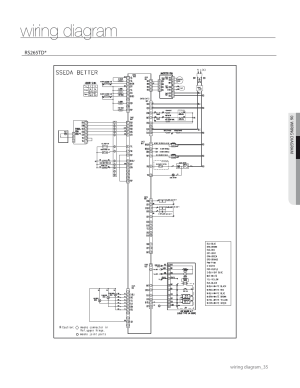 Wiring diagram | Samsung RS267TDWPXAA User Manual | Page 35  72