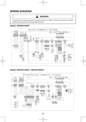 Wiring diagram | Samsung WA48H7400AWA2 User Manual | Page