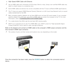 connecting through the hdmi port samsung un78hu9000fxza user manual page 22 244 [ 954 x 1350 Pixel ]