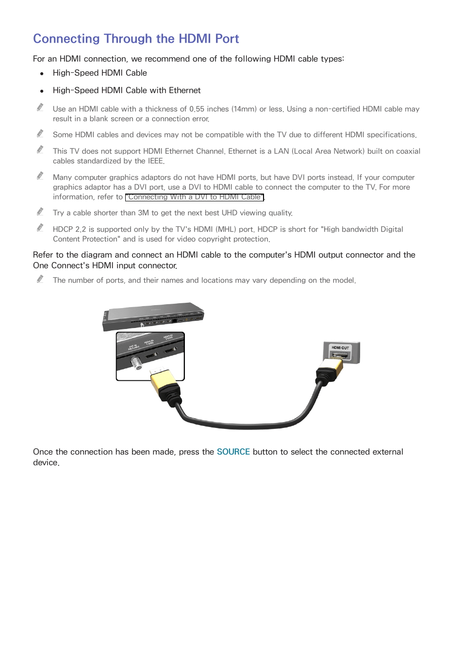 medium resolution of connecting through the hdmi port samsung un78hu9000fxza user manual page 22 244