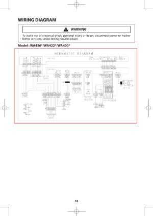 Wiring diagram | Samsung WA456DRHDWRAA User Manual | Page