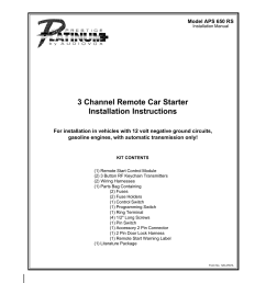 remote car starter wiring harnes [ 954 x 1235 Pixel ]