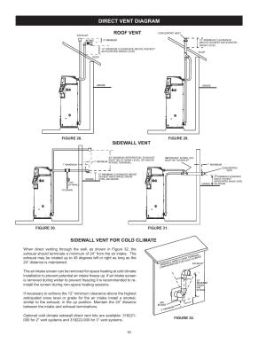 Direct vent diagram | AO Smith Vertex 100 Power Vent DV