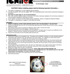 pertronix ignitor 1244a user manual 4 pages wiring diagram pertronix distributor in addition distributor wiring [ 954 x 1235 Pixel ]