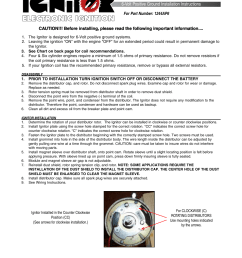 pertronix ignitor 1244ap6 user manual volt positive ground installation instructions [ 954 x 1235 Pixel ]