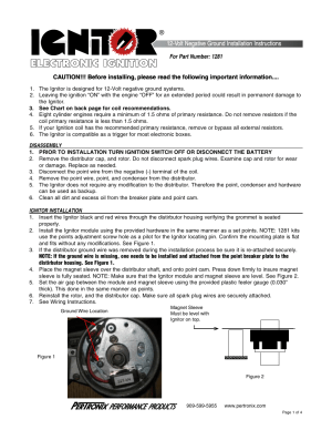PerTronix Ignitor 1281 User Manual | 4 pages