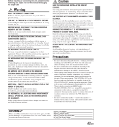 installation connections installation and connections warning alpine cda 9853 user manual page 44 55 [ 954 x 1235 Pixel ]