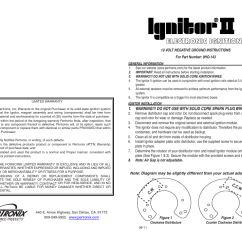 Pertronix Ignitor Ii Wiring Diagram Stem And Leaf Example Online 9ho 143 User Manual 2 Pages Msd 6al