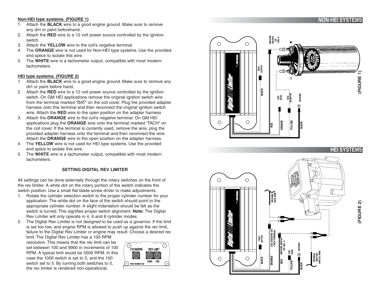 pertronix ignition wiring diagram honeywell gas valve non hei systems digital rev