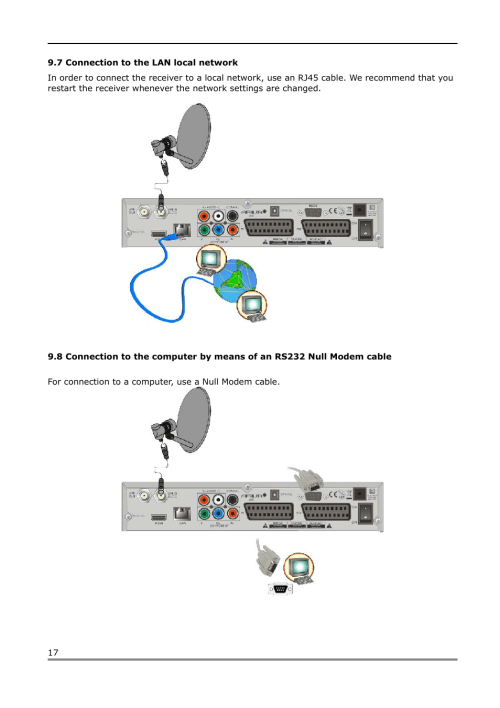 small resolution of 7 connection to the lan local network ferguson ariva 200 user manual page 17 60