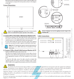 install monitor through enclosure door or wall cutout dimensions mounting clip installation atlas atm1700 user manual page 2 4 [ 954 x 1235 Pixel ]