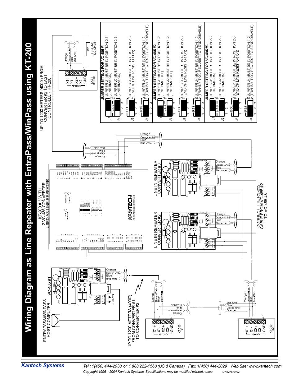 kantech wiring diagram