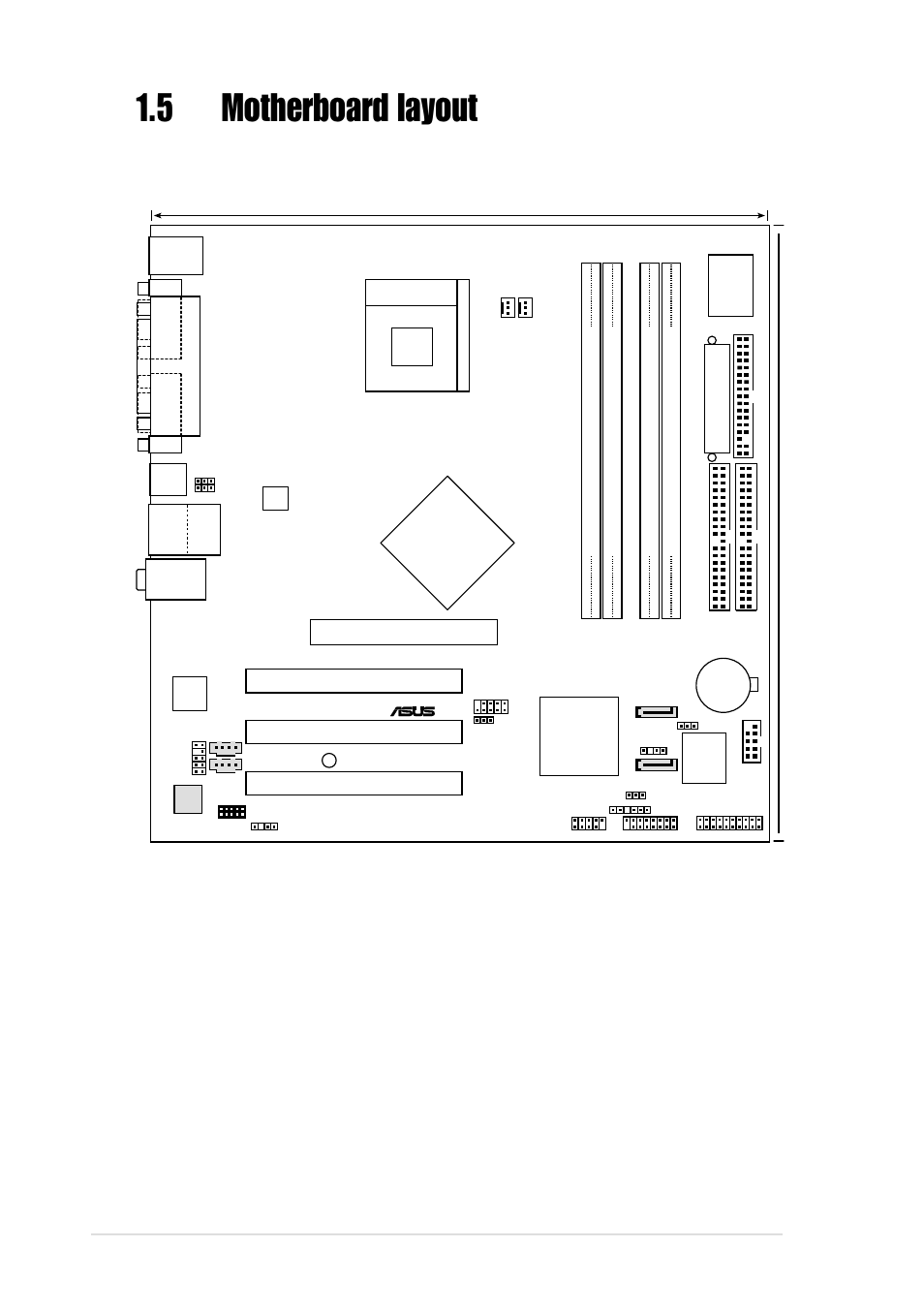 5motherboard layout, 8 chapter 1: product introduction