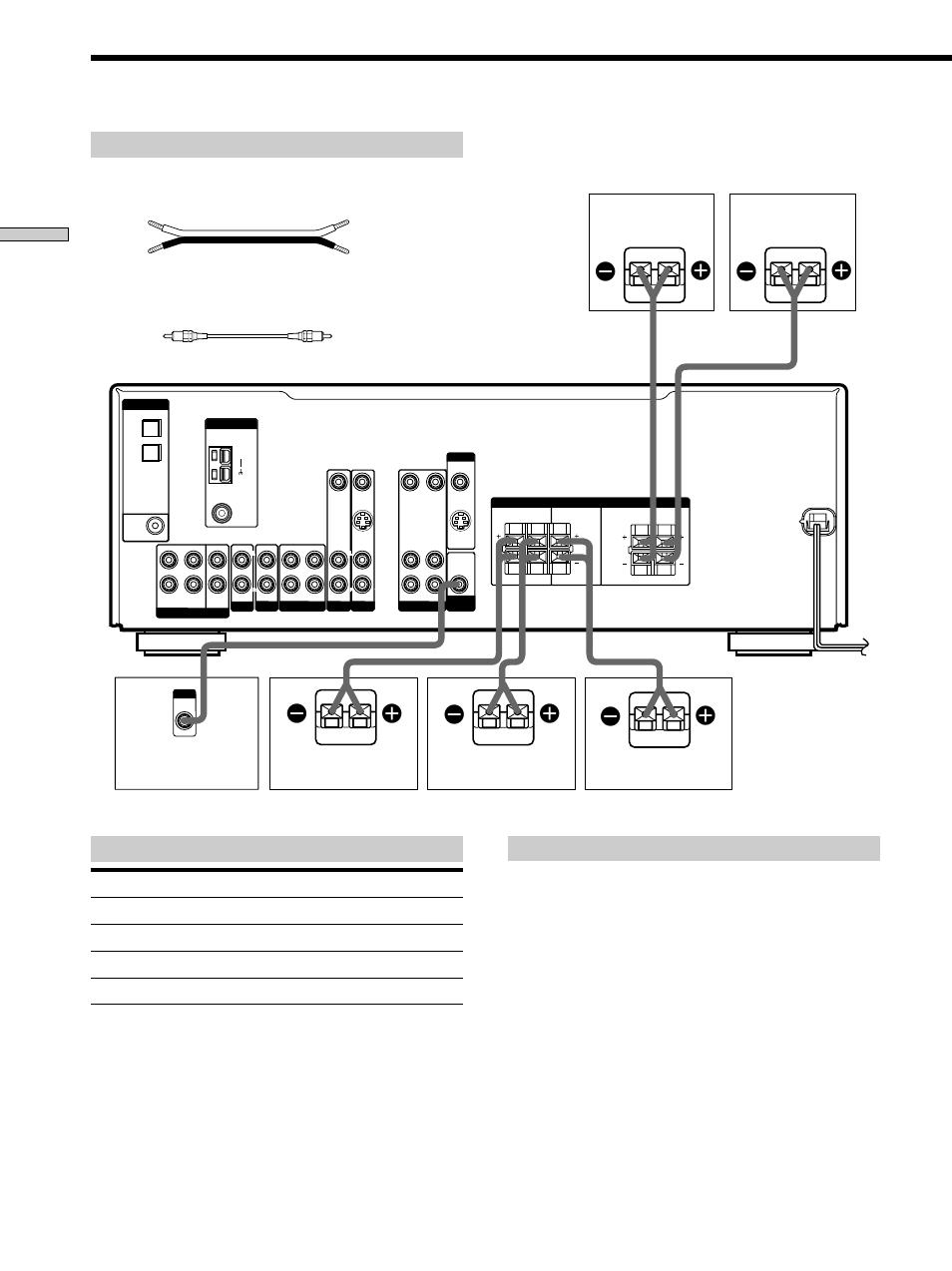 Speaker system hookup 12, Speaker system hookup, Terminals