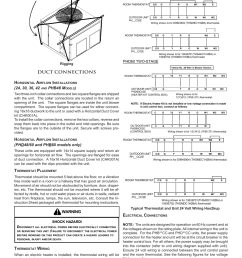 duct connections h warning phb48 m amana package heat pump user manual page 4 20 [ 954 x 1235 Pixel ]