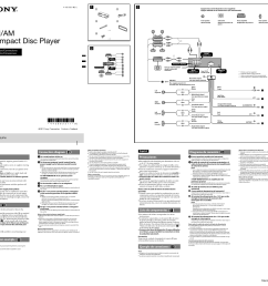 sony cdx gt66upw user manual 2 pages sony cdx gt660up wiring diagram sony cdx gt66upw wiring diagram stereo [ 954 x 903 Pixel ]