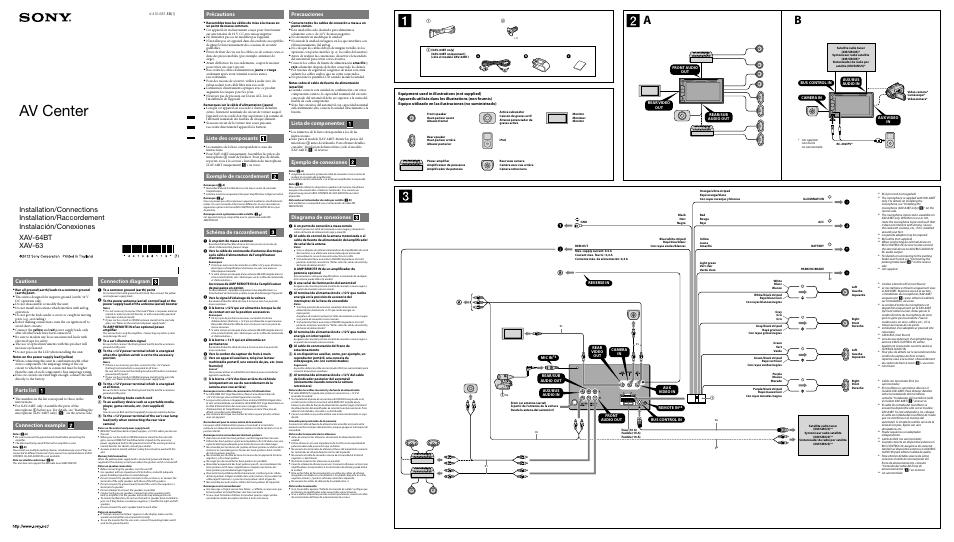 Sony Xav 63 Wiring Diagram : 26 Wiring Diagram Images