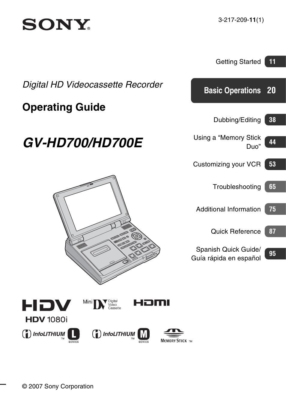 GV-HD700 MANUAL PDF