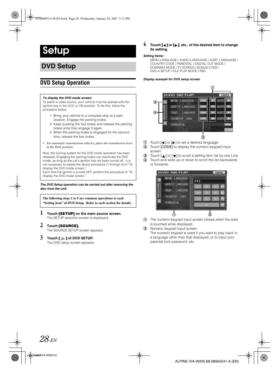 ALPINE W205 MANUAL PDF