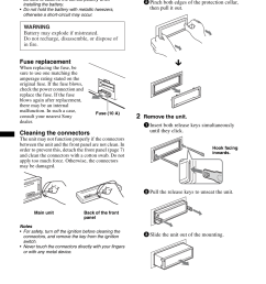 removing the unit sony mex bt38uw user manual page 30 72 [ 954 x 1352 Pixel ]
