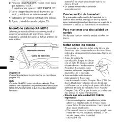 micr fono externo xa mc10 informaci n complementaria precauciones notas sobre los discos  [ 954 x 1352 Pixel ]