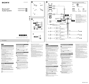Sony MEXN4000BT User Manual | 2 pages