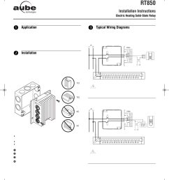 aube technologies electric heating solid state relay rt850 user manual 2 pages [ 954 x 1206 Pixel ]